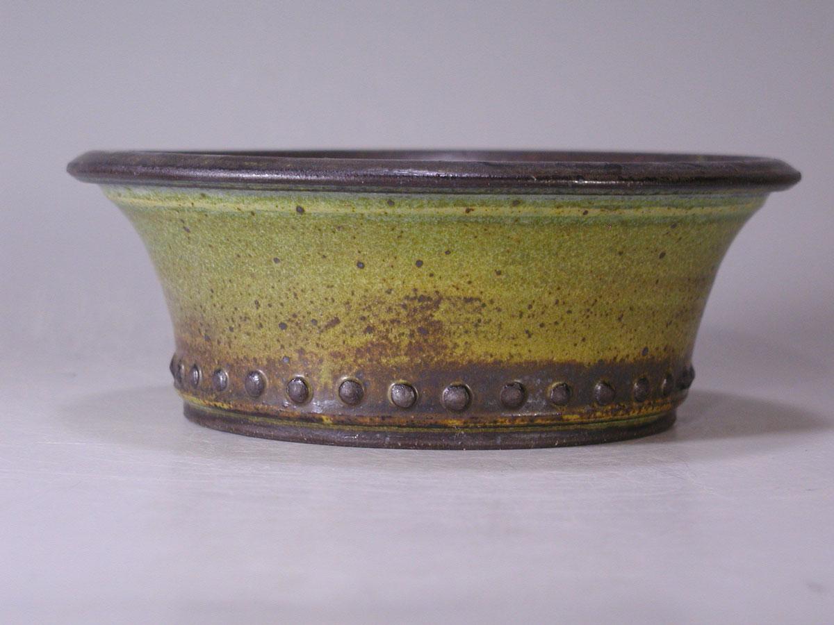 Green Stoneware Cascade Bonsai Pot Sara Rayner Pottery